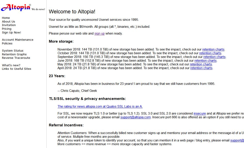 Altopia Usenet Review - Planet Usenet